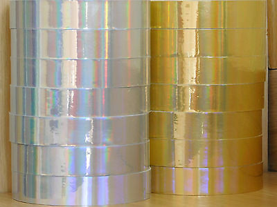 Holograpic Hoop Tape - Iridescent Rainbow - Self Adhesive - 20mm x 10m - Lures