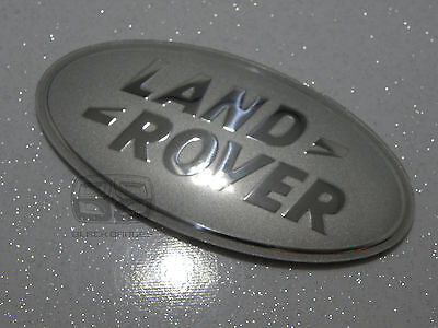 Land Rover Discovery 4 Bigger Large Front Oval Grill Badge Sparkle Silver Chrome