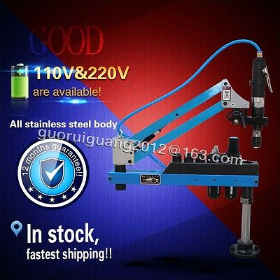 Auto Pneumatic Tapping Machine Air Tapper Tool with Work Reach 1000mm M3-M12