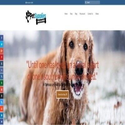 """Fully Stocked Dropshipping PET SUPPLIES Website Store. """"300 Hits A Day"""""""