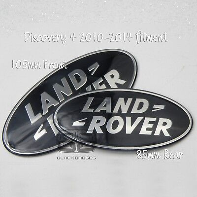 Land Rover Discovery 4 Bigger Black Supercharged Front Grill Back Badge Pair Set