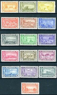 BAHAMAS-1948 Tercentenary of Settlement Set of 16.Top Value Unmounted Sg 178-193