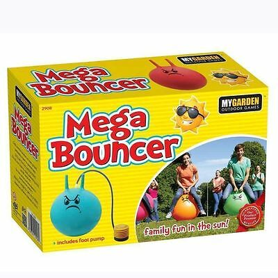 Large Retro Ball Space Hopper Jump Bounce Toy Big Adult Kid Party Game Foot Pump