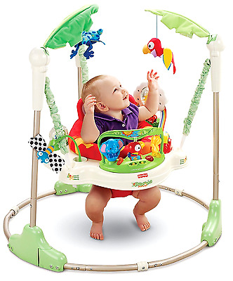 Rainforest Jumperoo Baby Jumper Walker Bouncer Activity Seat Fisher Price Toy