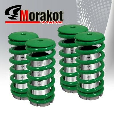 Civic  Prelude Adjustable Coilover Lowering Spring Chrome Sleeve Dual Lock Green