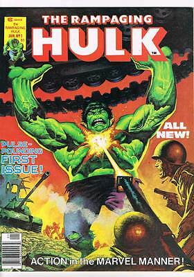 Rampaging Hulk # 1 Pulse Pounding first issue ! grade 8.5 scarce mag !!
