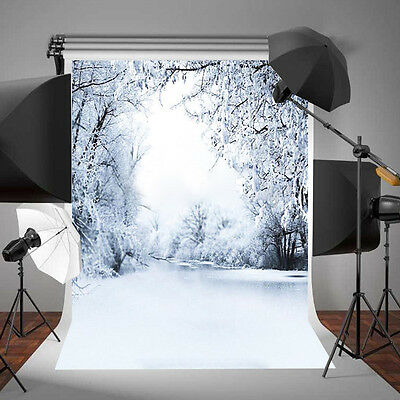 CHEAP~Winter Heavy Snow Background Studio Photo Photography Backdrop Props 3x5ft
