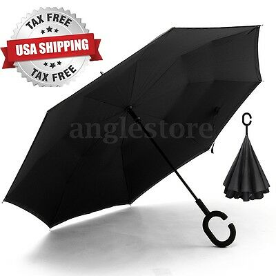 C-Handle Better Brella Inverted 2 Layer Upside Down/Reverse Opening Umbrella