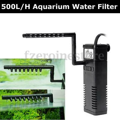 500 L/h Filtro Pompa Acquario Interno Acqua Surmersible Power Water Fliter Us
