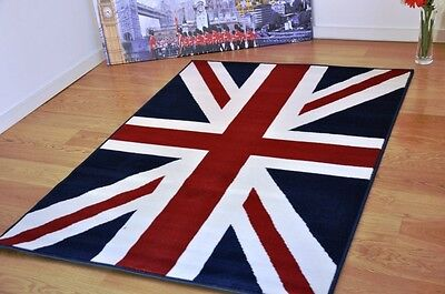 New Union Jack Rug 120x170 Blue/Red/White