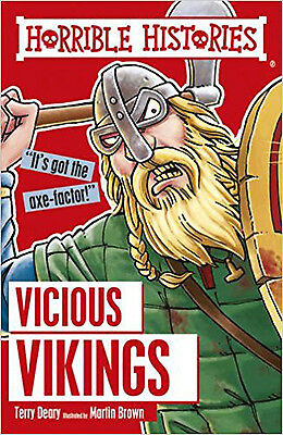 Vicious Vikings (Horrible Histories), New, Deary, Terry, Brown, Martin Book