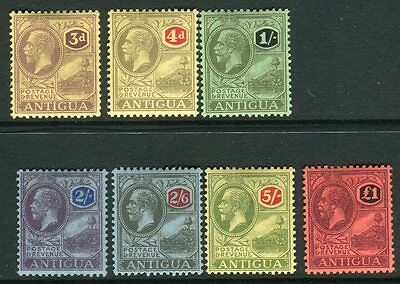 ANTIGUA-1921-9  A mounted mint set of 7 Sg 55-61