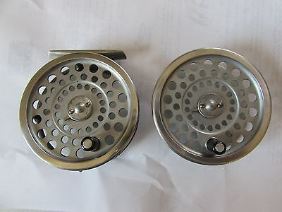 """good vintage hardy marquis no. 6 trout fly fishing reel 3.25"""" + spool."""
