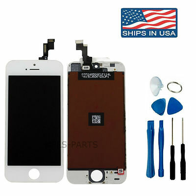 White iPhone 5S OEM LCD Display+Touch Screen Digitizer Assembly Replacement *NEW
