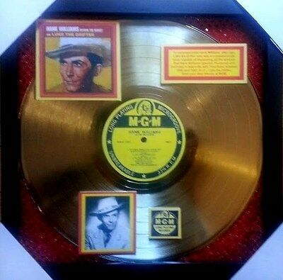 Hank WILLIAMS  GOLD RECORD  as  LUKE THE DRIFTER   -  Extremely RARE