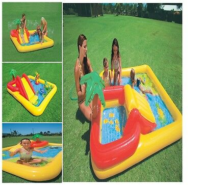2in1 New Intex Inflatable Pool Toys Kid Baby Swim Water Floats Play Center Ocean