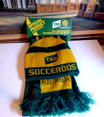 Official Limited Edition SOCCEROOS Scarf & Beanie Set - Brand New