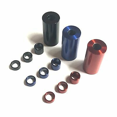 RED BLUE BLACK M5 x 7mm OD Stainless Steel Spacers - Standoff Stand Off Collars
