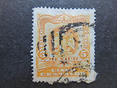 A4P43 Mexico 1903 5c used #145