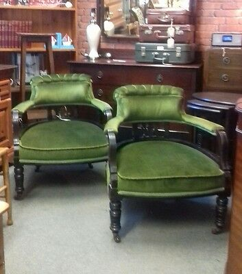Pair of Edwardian Tub chairs Collection Ramsgate Kent