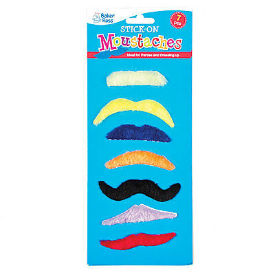 Stick-on Moustaches - Perfect Stocking Filler for Children (Pack of 7)