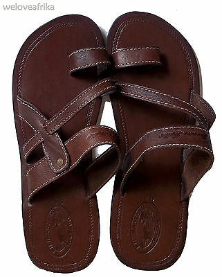 African Masai Mens Ethnic Summer Leather Sandals, Handmade Tribal Tanzania Gifts