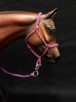 Model horse rope halter and lead rope - Traditional (1:9) size