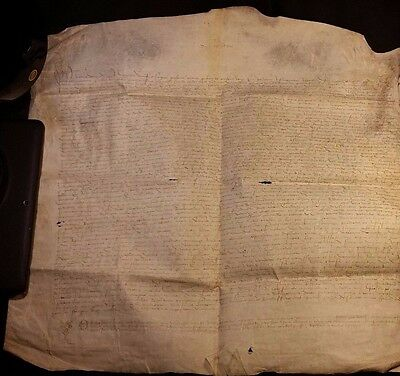 1482 - Very Large Signed Parchment Epoch LOUIS XI - 535 Years Old!