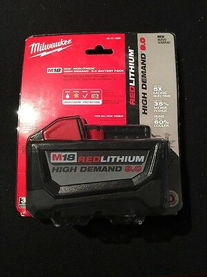 New Milwaukee M18 Red Lithium 9.0 Battery (52-76-1896)**FACTORY SEALED**