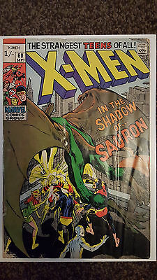 Uncanny X-Men #60 - Marvel 1969 - 1st appaearance of SAURON Silver Age Comic
