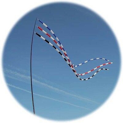 Spirit of Air - Windsock - Tube Tail - Blue and White - 8cm x 600cm