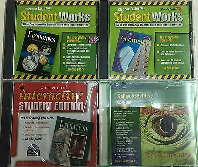 Grade 10 Curriculum 4-Subject CD-Rom Set Homeschool 10th Homeschooling