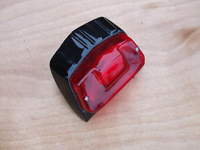 Lambretta Gp  Alloy  Gloss Black  Rear Lamp   -  New