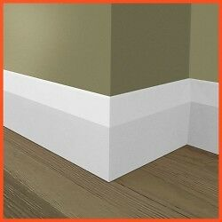 3 lengths of white smooth gloss skirting boards.  New and unused