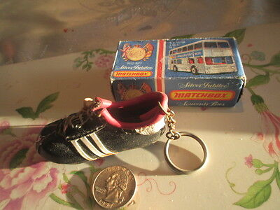 Vintage Adidas World Cup Football Boot W/laces Keyring Keychain 1960S