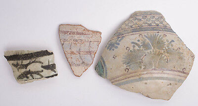 Ancient Egyptian Faience Vessel Fragments c.600-50 BC.