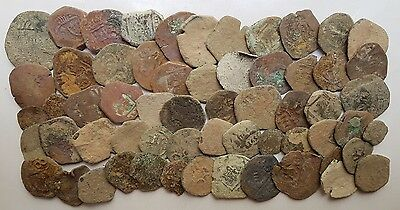 *Prados* LOT OF 60 PIRATE COBS SPANISH COLONIAL COINS