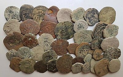 *Prados* LOT OF 40 PIRATE COBS SPANISH COLONIAL COINS