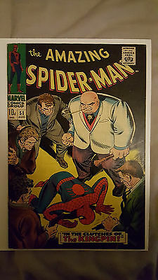 Amazing Spider-Man #51 2nd appearance of THE KINGPIN! (Marvel Comics) 1966