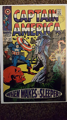 CAPTAIN AMERICA #101 Marvel Comics May 1968 2nd in own title JACK KIRBY