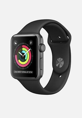 Apple Watch  SERIES 2 Space Grey Aluminium Case with Black Sport Band 38MM