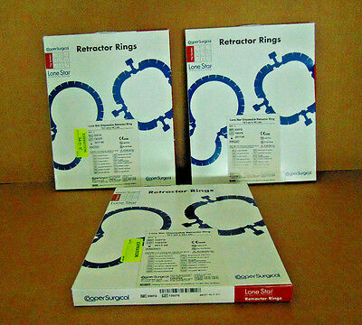 Cooper Surgical Lone Star Retractor Rings.14.1 cm x 14.1 cm. 3307G. LOT of 3 (X)