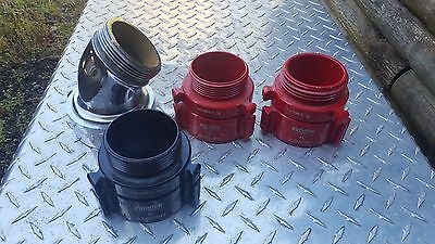 Huge LOT of Firefighting Hose Adapters Male Female Firefighter Fire Engine