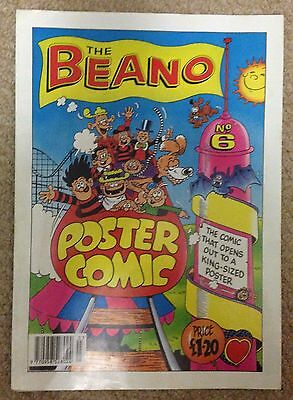 Beano Poster Comic No.6 Year 1992 Dennis the Menace and Gnasher
