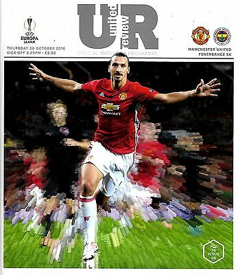 MANCHESTER UNITED v FENERBAHCE Europa League 2016/17 MINT