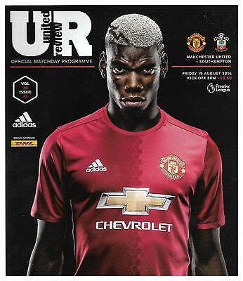 MANCHESTER UNITED v SOUTHAMPTON Premier League 2016/17 MINT