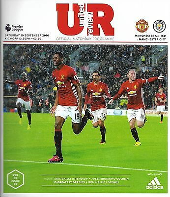 MANCHESTER UNITED v MANCHESTER CITY Premier League 2016/17 MINT