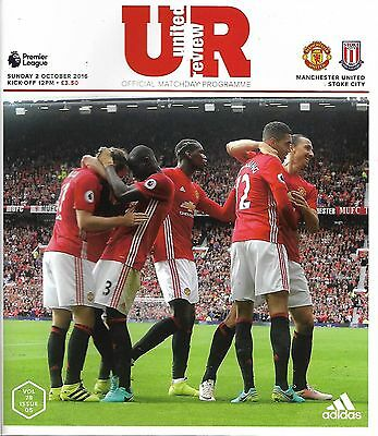 MANCHESTER UNITED v STOKE CITY Premier League 2016/17 MINT