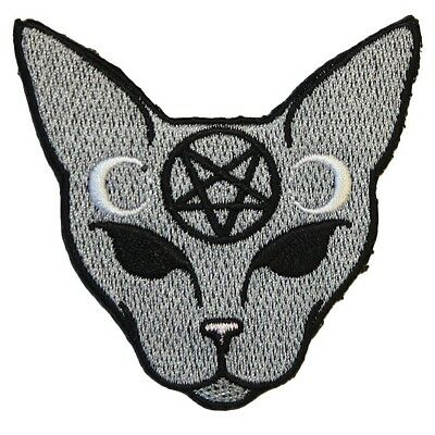Extreme Largeness  Iron On Patch Goth Cat Occult  Tumblr DIY