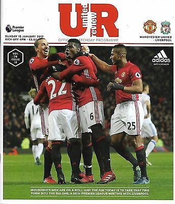 MANCHESTER UNITED v LIVERPOOL Premier League 2016/17 MINT